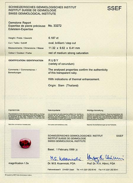 certificat pierre precieuse