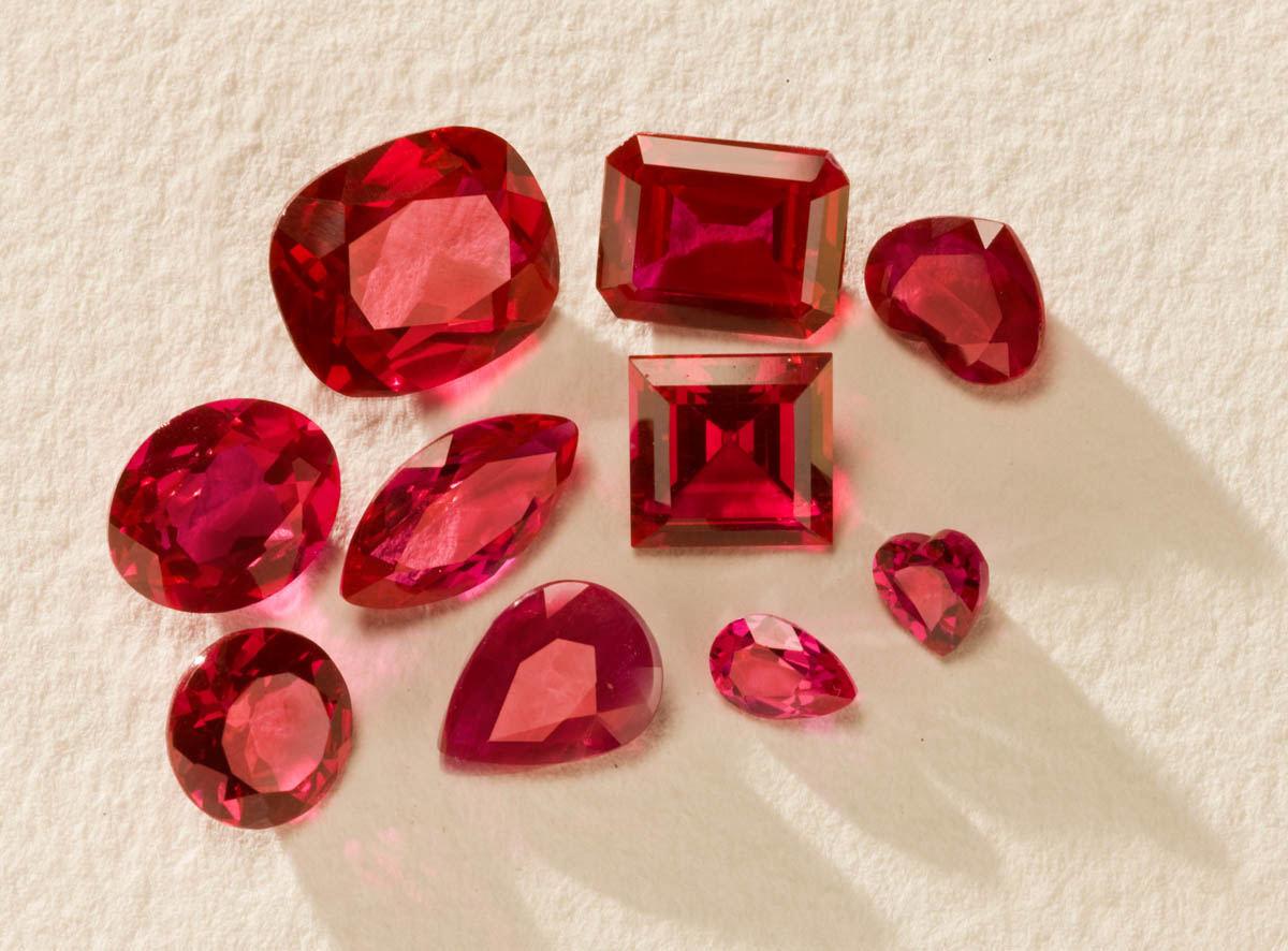 collection de rubis